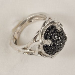 Image of a ring with a black stone for the jewelry for sale page