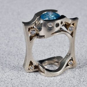 Image of a custom made diamond wedding ring on the jewelry store OKC page