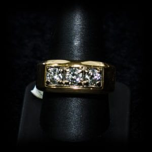 Image of a rectangle diamond wedding ring on the jewelry store OKC page