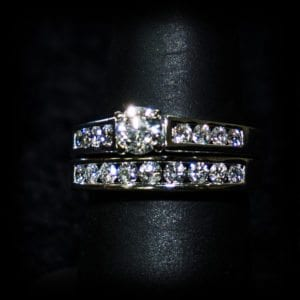 Image of a diamond wedding ring on the jewelry store OKC page